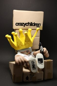 Crazy King par Michael Lau ! #ArtToy #VinylToy #DesignerToy #CustomToy