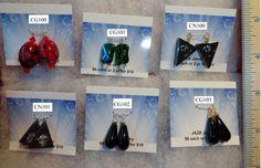 $5 www.jazbjewelry.com hematite tryangles Black glass teardrops