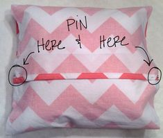 Super easy pillow case DIY