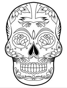 Freebie coloring page for the Dia De Los Muertos - a celebration that dates back to pre-conquest times in Mexico. Printable Coloring Pages, Coloring Pages For Kids, Colorful Skulls, Map Skills, Mexico Culture, Global Citizen, I Icon, Day Of The Dead, World Cultures