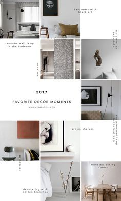 Favorite decor moments of 2017 in My Paradissi Muro Instagram, Instagram Feed Layout, Feeds Instagram, Instagram Grid, Instagram Design, Grid Design, Web Design, Media Design, Layout Design