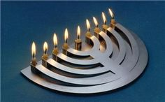 Crescent Aluminum Menorah by Greenvurcel Silversmiths & Jewelers ($590)