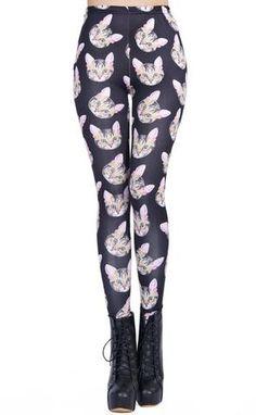 meowingtons cat themed apparel yoga pants