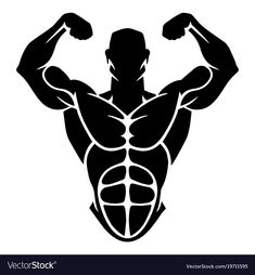 Bodybuilding design vector image on VectorStock Logos Gym, Gym Logo, Male Logo, Bodybuilding Logo, Instagram Highlight Icons, Fitness Logo, Logo Images, Pictogram, Free Vector Art