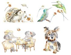 Centsational Girl » Blog Archive Watercolor Animal Prints - Centsational Girl