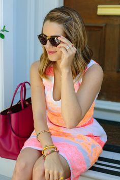 Top to bottom this is perfect.  I love her hair, sunglasses, dress, everything.  All Things Girly & Beautiful