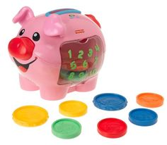 Fisher Price Laugh and Learn Piggy Bank - Just one of the Christmas toy ideas available for baby. Fisher Price, Best Christmas Toys, Christmas Gifts, Kids Christmas, Bb Reborn, 1 Year Old Girl, Toys For 1 Year Old, Thing 1, Best Kids Toys