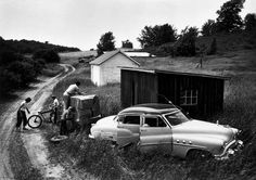 Eugene Smith 1953 MI. The Miller family, migrant workers. During the summer they are share croppers