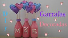 DIY dia das mães | garrafas decoradas