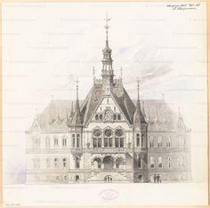 Titel Rathaus Nauen. Monatskonkurrenz August 1885   Schupmann, Ludwig Rathaus…