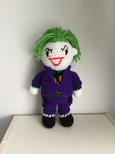 "PDF Pattern for Crochet Amigurumi ""Batman"" Inspired Joker Doll by Shimmeree Creations on Ravelry"