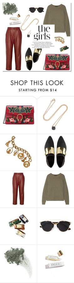 """""""Untitled #896"""" by mjangirashvili ❤ liked on Polyvore featuring Gucci, Pomellato, Fred Leighton, ASOS, ADAM, The Row, Bare Escentuals and Herbivore"""