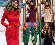 Palton din stofa cu gluga Sylvie Wrap Dress, My Style, Dresses, Fashion, Gowns, Moda, La Mode, Wrap Dresses, Dress