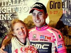 Taylor Phinney and mom, Connie after his Giro d'Italia Stage 1 win.