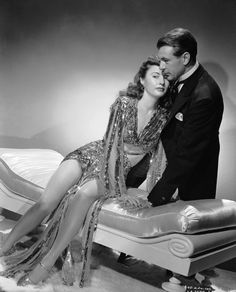 Barbara Stanwyck and Gary Cooper in Ball of Fire, 1941
