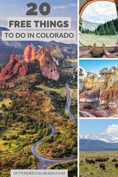 Colorado is filled with endless beauty and many fun things to see and do for travelers. Here are 20 free things to do in Colorado is filled with endless beauty and many fun things to see and do for travelers. Here are 20 free things to do in Colorado. Estes Park Colorado, Aspen Colorado, Boulder Colorado, Colorado Mountains, Denver Colorado Hiking, Rocky Mountains, Colorado Places To Visit, Road Trip To Colorado, Us Road Trip