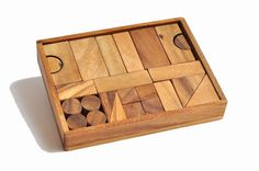 Wooden Building Blocks, kids toys , Wooden games, Wooden box, Christmas gift. on Etsy, $31.99