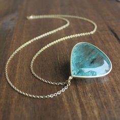 Lola Brooks 14k Gold and Aquamarine Drop Pendant – Meeka Fine Jewelry