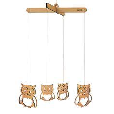 Owl Wooden Mobile | Laser cut Nursery & Kids Decor