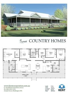Country Homes Decor Pole Barn House Plans, Pole Barn Homes, New House Plans, Dream House Plans, Small House Plans, House Floor Plans, Simple Floor Plans, 4 Bedroom House Plans, Metal Building Homes