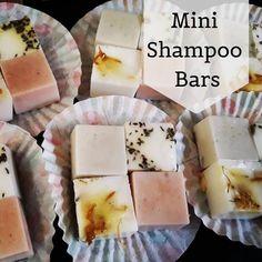 Mini Shampoo Bars - Grapefruit, Lemon and Neem, Rose and French Clay, Tea Tree and French Clay, Swee Shampoo Bar, How To Make Shampoo, Green Clay, How To Make Box, Calendula, Tea Tree, Soap Making, Grapefruit