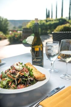 Vibrant salad that's packed with great complementing flavors at The Restaurant at Leoness Cellars in Temecula Valley Wine Country