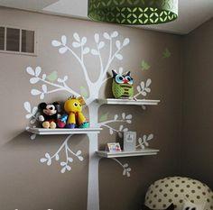 Kinderzimmerwände babyzimmer wandsticker wandtattoo regale