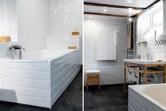 renovation salle de bain carrelage blanc 10X15 sur murs et tablier baignoire - Decoration maison. Toutes les idees pour la maison, couleur peinture, bricolage-deco-cool