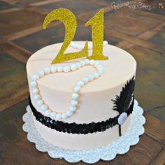 Great Gatsby Cake - 21st Birthday