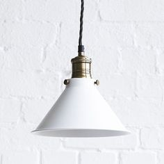 Clean lines and slick design give the Dexter a contemporary but not threatening feel. Usable in all sorts of environments, this sturdy light is made from solid brass. Brass Pendant Light, Pendant Lighting, Dexter, Pooky Lighting, Contemporary Pendant Lights, Shop Lighting, Messing, Light Bulb, Modern