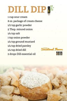 Dill dip, uses DoTerra Dill essential oil. www.hayleyhobson.com  Hayley Hobson Essential Oils