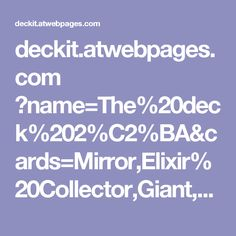 deckit.atwebpages.com ?name=The%20deck%202%C2%BA&cards=Mirror,Elixir%20Collector,Giant,Minion%20Horde,Heal,Goblin%20Gang,Royal%20Giant,Empty