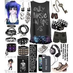 """Only Music Can Save Us"" by rukiakuchiki12341 on Polyvore"