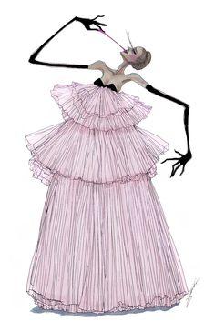 Achraf Amiri Fashion Design Portfolio, Fashion Design Drawings, Fashion Sketches, Dress Sketches, Weird Fashion, Fashion Art, High Fashion, Couture Fashion, Fashion Figure Drawing