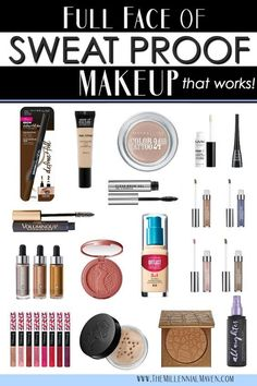 The Best Sweat Proof Makeup Products for a Long-Wearing, Full Face Look Loading. The Best Sweat Proof Makeup Products for a Long-Wearing, Full Face Look Beauty Makeup, Eye Makeup, Beauty Tips, Makeup Geek, Oily Skin Makeup, Beauty Ideas, Makeup Addict, Beauty Skin, Hair Makeup