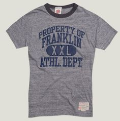 A light cotton jersey, treated in an exclusive way for a very unique T-shirt #franklinandmarshall