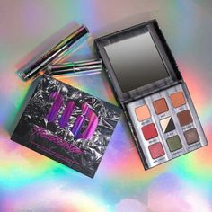 Urban Decay new Troublemaker eyeshadow palette and mascara set. Release date tba.