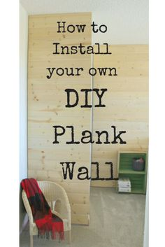 DIY Plank Wall | mak