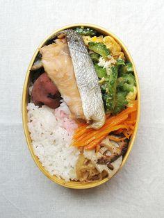 2016年09月08日 鮭とゴーヤーチャンプルーべんとう / Salmon & goya chanpuru bento