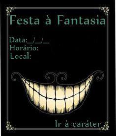 Convite para Festa à Fantasia - Alice no País das Maravilhas