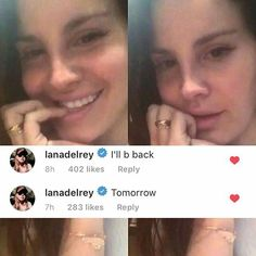 Jan.7, 2017: Lana Del Rey went live on Instagram for less than 20 seconds. She then commented that she'd be back the next day. #LDR #news #quotes