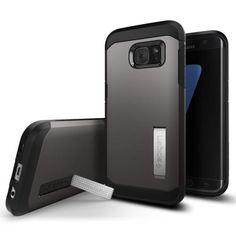 Köp Spigen Galaxy S7 Edge Tough Armor Case Gunmetal online: http://www.phonelife.se/spigen-galaxy-s7-edge-tough-armor-case-gunmetal