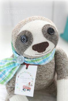 Sock Monkey Sloth Doll, Plush