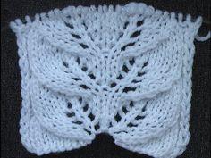 Вязаный ажурный пуловер с узором листочки | Вяжем с Лана Ви
