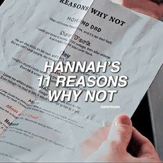"[11 Reasons Why Not] ""No matter how many reasons why, there will always be more reasons why not"" (Yes I know 11 is less than 13 that…"