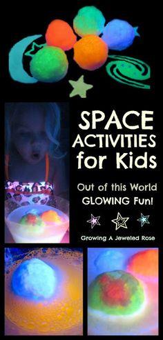 space activities- DIY glow dough
