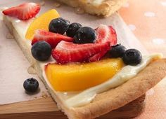 Fruit Pizza.  As long has it has strawberries and blueberries then that's all the fruit you need.  :)