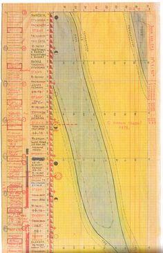 Detail from Flight Program of Salyut 6 by Georgi Grechko and Yuri Romanenko. A representation of 96 days in orbit: Dec 10th 1977 – March 16th 1978
