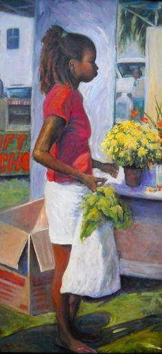 Figurative Oil Painting Large Original Oil by CarolSchiffStudio, $2550.00
