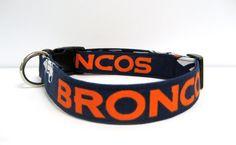 Adjustable Dog Collar Denver Broncos  1 by MuttsandMittens on Etsy